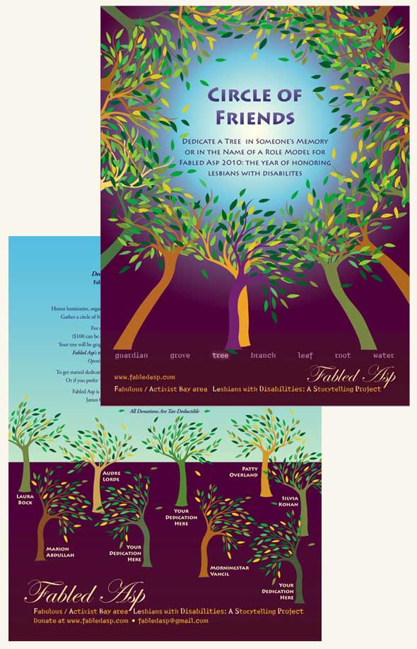 Print Portfolio Image: Fabled Asp Circle of Friends Flyer