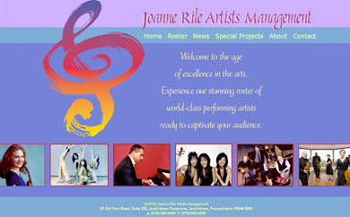 Portfolio image: Joanne Rile Artists Management Website