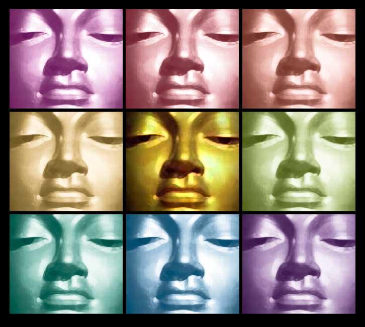 Image of Rainbow Faces Illustration